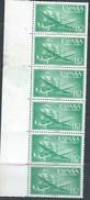 ES1173-A973TAN.Spain Espagne.AVION.BARCO. SUPER-CONSTELLATION Y NAO SANTA MARIA 1955/56.(Ed.1173**)BL 6 - 1951-60 Nuevos & Fijasellos