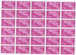 ES1174-A321TEVA.Spain Espagne.AVION.BARCO SUPER-CONSTELLATION Y NAO SANTA MARIA 1955/56.(Ed.1174**)BL 30 - Variedades & Curiosidades