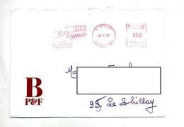 Lettre Flamme Ema Beaune Vin La Vignee - Postmark Collection (Covers)