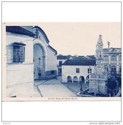 SVLLTPA1864CPA-LFTD11778TBES.Tarjeta Postal DE SEVILLA.Escultura,iglesia Y PLAZA DE SANTA MARIA DEL VALLE  En  ECIJA - Esculturas