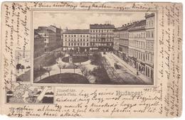 #7622 Hungary, Budapest  Postcard Mailed 1903: Joseph Square, Animated - Hongrie