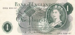 Great Britain UK ENGLAND 1 Pound  1962-1966 VF P-374c  (free Shipping Via Regular Air Mail (buyer Risk) - 1952-… : Elizabeth II