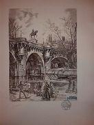 Lithographie Decaris Le Pont Neuf - Lithografieën