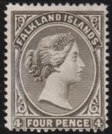 Falkland Islands      .       SG     .     6      .     *       .      Ongebruikt   .    /    .   Mint-hinged - Falklandeilanden