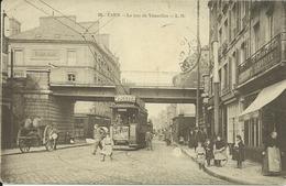 Caen La Rue De Vaucelles Avec Tramways - Caen