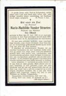 2417 MARIE VANDER STRAETEN - EINE 1843 + 1927 - Images Religieuses