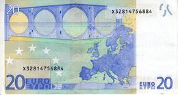 Allemagne - 20.00 € - 2002 - Sign. J.Cl Trichet - Série X 32814756884 - P017H4 - Pli Central - 20 Euro