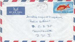 Grenada 1971 Sauters Mangrove Red Snapper (Lutjanus Argentimaculatus) Fish Cover - Grenada (1974-...)
