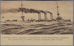 S.M.S. Kreuzer Augsburg Marine Deutsches Kaiserreich  Uber 1914y.See  Schlacht Libau  690l - Guerra