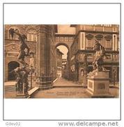 ITLATP1341CPA-LFTD5496TBES .TARJ ETA POSTAL DE ITALIA.ARTE.Casas Calles Y Monumentos.ESCULTURAS Y CALLE - Esculturas