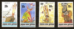 Papouasie Papua New Guinea 1989 Yvert 597-600 *** MNH Cote 7,00 Euro Masques Maskers - Papouasie-Nouvelle-Guinée
