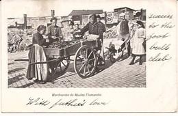 MOSSELVERKOOPSTERS LEUREN  Marchandes De Moules Flamandes Brugge Gestempeld 1902 R 6/184 - Marchands