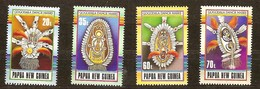 Papouasie Papua New Guinea 1990 Yvert 611-614 *** MNH Cote 7,00 Euro Masques Maskers - Papouasie-Nouvelle-Guinée