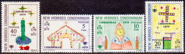 NEW HEBRIDES(English Inscr.) 1979 SG 279-82 Compl.set Used Christms And Year Of The Child - English Legend