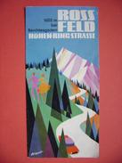 Faltblatt Prospekt: Deutschland - Rossfeld Höhenring Strasse, Berchtesgaden, 4 Fotos, Reliefkarte Künstler Eckhardt 1967 - Dépliants Touristiques