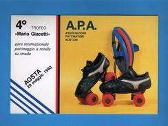 AOSTA - A.P,A. ASSOCIAZIONE PATTINATORI AOSTANI.  25/09/1983.  Annullo Fialelico. Vedi Decrizione. - Cartoline