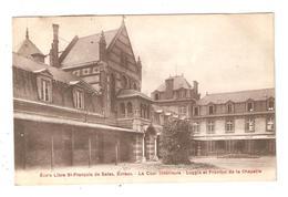 CPA 27 EVREUX Ecole Saint François De Sales  Cour Intérieure Loggia & Fronton Chapelle Famille Mulliez Roubaix 1907 - Evreux