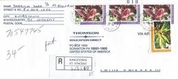 St Vincent 2003 Kingston Flower Registered Cover - St.-Vincent En De Grenadines