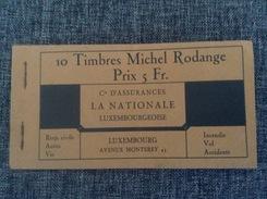 LUXEMBOURG Luxemburg - 1930 Seltenes Komplettes Heftchen / Carnet Complet Rar De Michel Rodange 10x Vignettes - Booklets