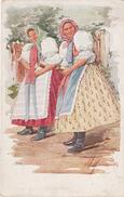 Künstlerkarte AK Österreich Ungarn Volkstypen Slowaken Unter Themenau Unterthemenau Postorna Mährische Slowakei - Tschechische Republik