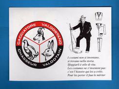 AOSTA - CACCIATORE VALDOSTANO. 04/03/1995.  Annullo Fialelico. Vedi Decrizione. - Chasse