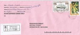 St Vincent 2003 Money Order Office Flower RY Yacht Brittania Registered Cover - St.-Vincent En De Grenadines
