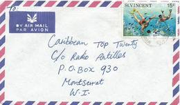 St Vincent 1975 Kingston Snorkel Diving Cover - St.Vincent (1979-...)