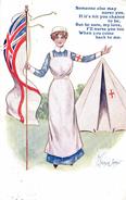 Angleterre / Nurse /  Infirmière Croix-Rouge Guerre / England - Santé