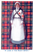 """Angleterre / Nurse /  Infirmière Croix-Rouge Guerre / England / """"A Lass O' The Right Spirit."""" - Health"""