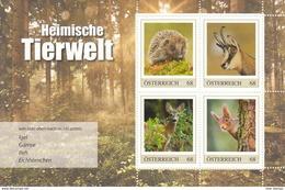 Austria 2017 Fauna Hedgehog Squirrel SS Of 4v MNH - 1945-.... 2nd Republic