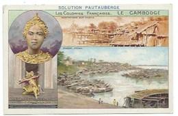 Indochine Cambodge Colonies Françaises Apsaras Phnom Penh TB 14 X 9 Cm 2 Scans Pub: Solution Pautauberge - Chromos