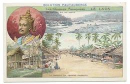Indochine Laos Colonies Françaises Mekong Louang Prabang TB 14 X 9 Cm 2 Scans Pub: Solution Pautauberge - Chromos