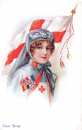 / Nurse / Infirmière / Croix-Rouge / Red-Cross / Soldats / Guerre 14-18 - Santé