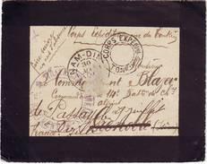 CORPS EXPEDITIONNAIRE DU TONKIN Lettre INDO CHINE Cachet De NAM DINH 1901 - 1877-1920: Periodo Semi Moderno