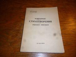 CB12 Poésies Choisies Russe Avec Traduction En Français Poète Fiodor Tiouttchev - Poëzie