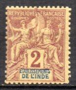 Col3 :  Inde : N° 2  Neuf X  MH  , Cote : 2,60€ - Unused Stamps