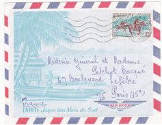 Polynésie Française, Lettre De Papeete De 1968, N° 49 ( Poly17/003) - Lettres & Documents