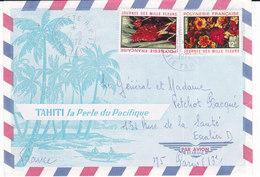 Polynésie Française, Lettre De Papeete De 1972, N° 83+84 ( Poly17/005) - Polynésie Française