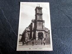 CPA Animée - BONE - ANNABA - Algérie - L'église - Annaba (Bône)