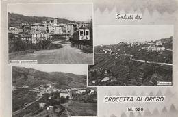 9412) GENOVA CROCETTA DI ORERO VEDUTE FERROVIA GENOVA CASELLA VIAGGIATA 1967 - Genova