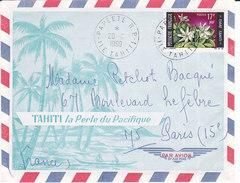 Polynésie Française, Lettre De Papeete De 1969, N° 65 ( Poly17/011) - Lettres & Documents