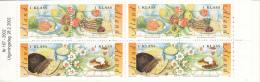 Aland MNH 2002 Booklet Foods: Gravlax, Herring, Black Bread, Pancakes - Aland