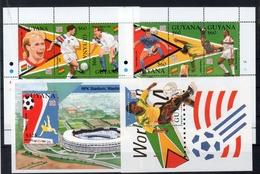 "Guyana 1994 ""Coppa Del Mondo 1994 ""  (  Yvert 3409/14 - 3415/20 + BF -169/170 -  ) **MNH /  VF - World Cup"