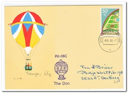 Teuge 6-9-1986, Afgestempeld Giethoorn-Brink - Luchtballons