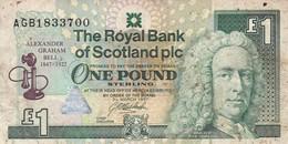 Scotland 1 Pound 1997 VG P-359 COMMEMORATIVE ISSUE (free Shipping Via Regular Air Mail (buyer Risk) - [ 3] Scotland