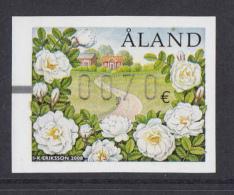 Aland MNH 2008 Postal Label: Burnet Rose - Vignettes ATM - Frama