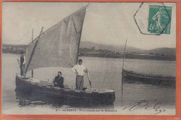 Carte Postale 64. Hendaye  Promenade Sur La Bidassoa  Trés  Beau Plan - Hendaye