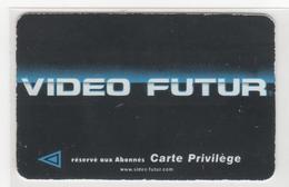 """VIDEO FUTUR - PRN 30 -Carte """"PRIVILEGE"""" Noire -""""SEMAINE """" -  TRES RARE - Utilisée - - Frankrijk"""