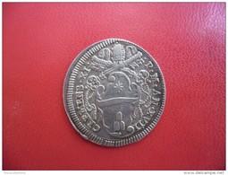 1 Giulio CLEMENT XI  PAPE 1700 -1721 An 17 (1716/17) Argent 3 Gr.  VATICAN ET ÉTATS PONTIFICAUX  - Rome - Saint Pierre - Vatikan