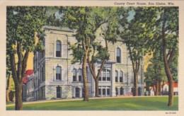 WIsconsin Eau Claire County Court House Curteich - Eau Claire